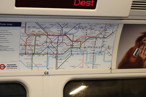 Mapa del metro de Londres