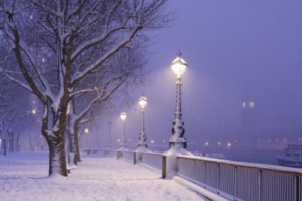 Londres frio nieve